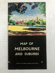 1957 Map of Melbourne and the Suburbs Australia