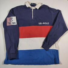 VTG 90s Polo Ralph Lauren RL-93 OG Rugby Long Sleeve Shirt MEDIUM 1993 US-POLO