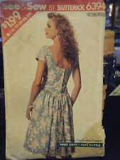 Butterick See & Sew 6394 Misses Dress & Petticoat Pattern - Size 16 & 18