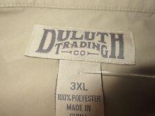 Duluth Trading Mens 1/2 Zip Pullover Vest Beige Size 3XL 1/4 Zip Mock Sleeveless