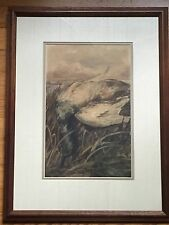 C S Charles Stuart Millard Original Watercolor Painting Waterfowl Duck Sporting