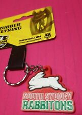 South Sydney Rabbitohs NRL Rubber Team Logo Keyring - Jersey Football FREE POST