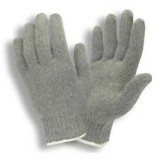 25 DOZEN 300 PAIR GRAY STRING KNIT POLY COTTON WORK GLOVES PAIRS GREY LARGE L