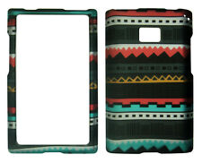 Black Trible  LG Optimus Logic / Dynamic L38c / L35g / L3 Case Cover