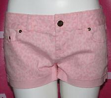 "VICTORIA'S SECRET Pink Denim Mini Shorts Sz 4 Color Pink NWT ""Love Pink 86"""