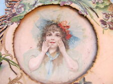 PAIR ANTIQUE 1800's VICTORIAN PORTRAIT Ephemera Plates Children picture RARE