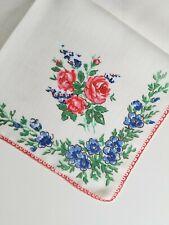 New listing Vintage Ladies Hankie Pink Floral