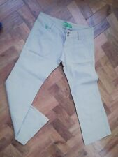 "Roxy Khaki Jeans Waist 34"" Leg 31"" Wide Leg frog pockets at front Ex Con"