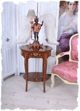 console de table baroque téléphone d'appoint marqueterie bois mur