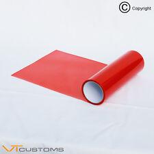 30 x 50cm Red Smoke Headlight Tinting Film Fog Tail Lights Tint Car Vinyl Wrap