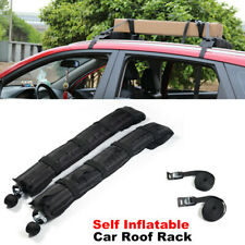 2PCS Car SUV Roof Rack Soft Self Inflatable Luggage Carrier with Rope Universal