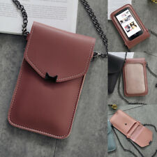 Retro Cat Ear Flap Bag Touch Screen Phone Bag Transparent Chain Wallet Purse