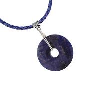 Southwest Lapis Lazuli Donut TRIBAL Pendant Leather Necklace PB19 Free Gift Box