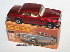 1979 Matchbox Lesney Mint Unused No.39 Rolls-Royce Silver Shadow II - Candy Red