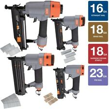 Pneumatic Finishing Kit, 4-Piece Lightweight Trim Cabinetry Home Crafts Air Tool