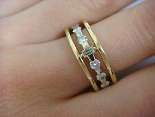 18K YELLOW GOLD AND 1.30 CT DIAMONDS ETERNITY HIGH END BAND-RING 7 MM WIDE