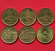 6 Canada Loon Dollars 3 Of 2004 Olympic 2 Of 2008 Olympic & 2015 Coins