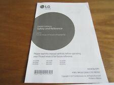 New listing Lg Led Tv Model 43Lj5500 Owner's Manual Only