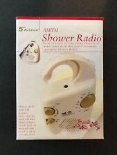 Radio Am Fm 5Th Avenue New In Box Shower
