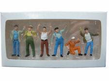 1/50 Scale Colorful Construction Workers Man Labor Figure Doll Model 6pcs