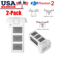 2 Pack Intelligent Lipo Battery 5200mAh 11.1V 3S For DJI Phantom 2 Vision + Plus