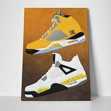 Nike Air Jordan Tour 4's X Tokyo 5's Gallery Art Canvas 11in x14in