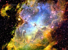 "Poster Print: 18"" x 24"": Pillars Of Creation Eagle Nebula M16 - Wide Field View"