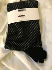 New Express Black Dot Dress Socks Men's L Large 8-13 NWT Discontinued
