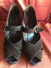 dfb2e6d42 Vintage Peep-Toe Platform Shoes, Chocolate Suede, T.Hinde & Son Manchester