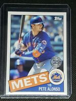2020 Topps Baseball PETE ALONSO #85TB-28 New York Mets '85 ANNIVERSARY