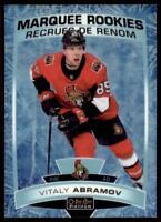2019-20 OPC Platinum Arctic Freeze Marquee Rookies #189 Vitaly Abramov RC /99