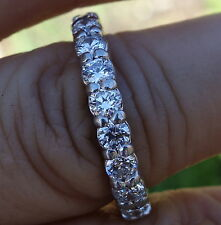 2cts G/VS-Si1 Diamond platinum Eternity band