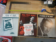 3 Sheet Music Frank Sinatra Strangers in the Night All the Way Young at Heart