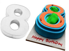 "Small Number Eight 8 Birthday Cake Pan Baking Tin Mold 10""x 8"" by Euro Tins"