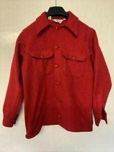Woolrich Red Wool Coat Small