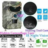 1080P HD 12MP Hunting Trail Camera Video Wildlife Scouting Infrared Night Vision