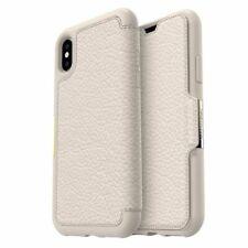 Genuine OtterBox iPhone 8 & 7 Strada Leather Wallet Folio Case Cover Beige White