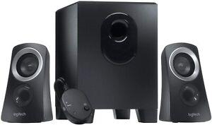Logitech Z313 2.1-Channel Speaker System 50 Watt With Subwoofer Black For MAC PC