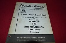 International Harvester 3 Point Hitch 340 Tractor Operator's Manual WPNH