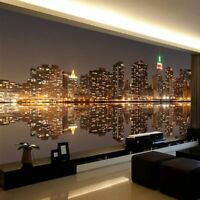 Night Mural Background Wallpaper 3D City View Wall Covering Backdrop Home Decors