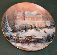 Bradford/Thomas Kinkade LtEd Plate: All Friends Are Welcome - Christmas
