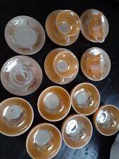 VINTAGE FIRE KING Peach Lustre 6 Chili Bowls
