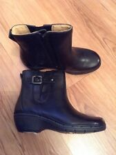 New🌺Clarks🌺Size 3 ( 35.5EU) Unstructured Un Parade Black Leather Boots RRP £80