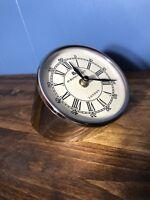 49 BOND STREET LONDON DESK CLOCK, White & Chrome Speedometer Clock Desk Tabletop