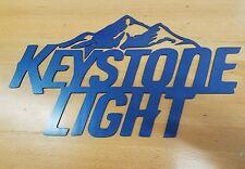 Keystone Light sign metal wall art plasma cut decor beer