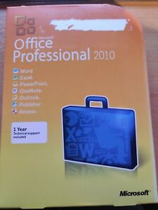 Microsoft Office Professional 2010 with DVD and Licence Key