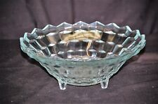 Old Vintage Colony Indiana Whitehall Pattern Clear Bowl Stacked Cubed Design
