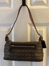 Coach #G3J-6332 Signature Jacquard & Leather Demi Black Hobo Shoulder Bag