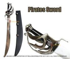 "29"" Scimitar Pirate Cutlass Sword with Leather Sheath Brand New"