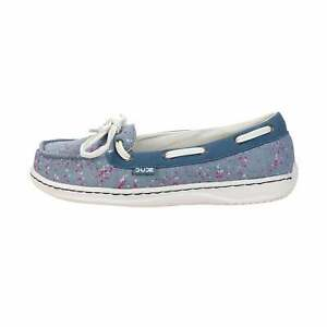 Hey Dude Shoes Women's Moka Classic Sprinkled Jeans Boat/Deck Shoe